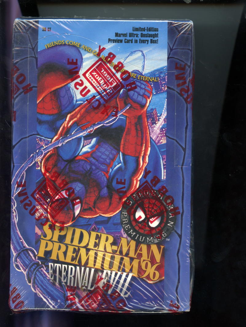 1996 skybox premium '96 spiderman card set hobby edition