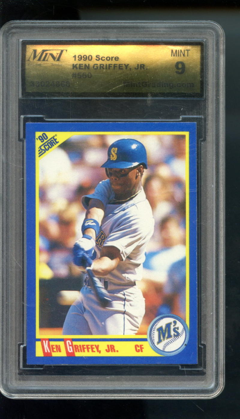 c6e61c40c7 1990 Score #560 Ken Griffey Jr. Seattle Mariners MINT 9 Graded Baseball Card