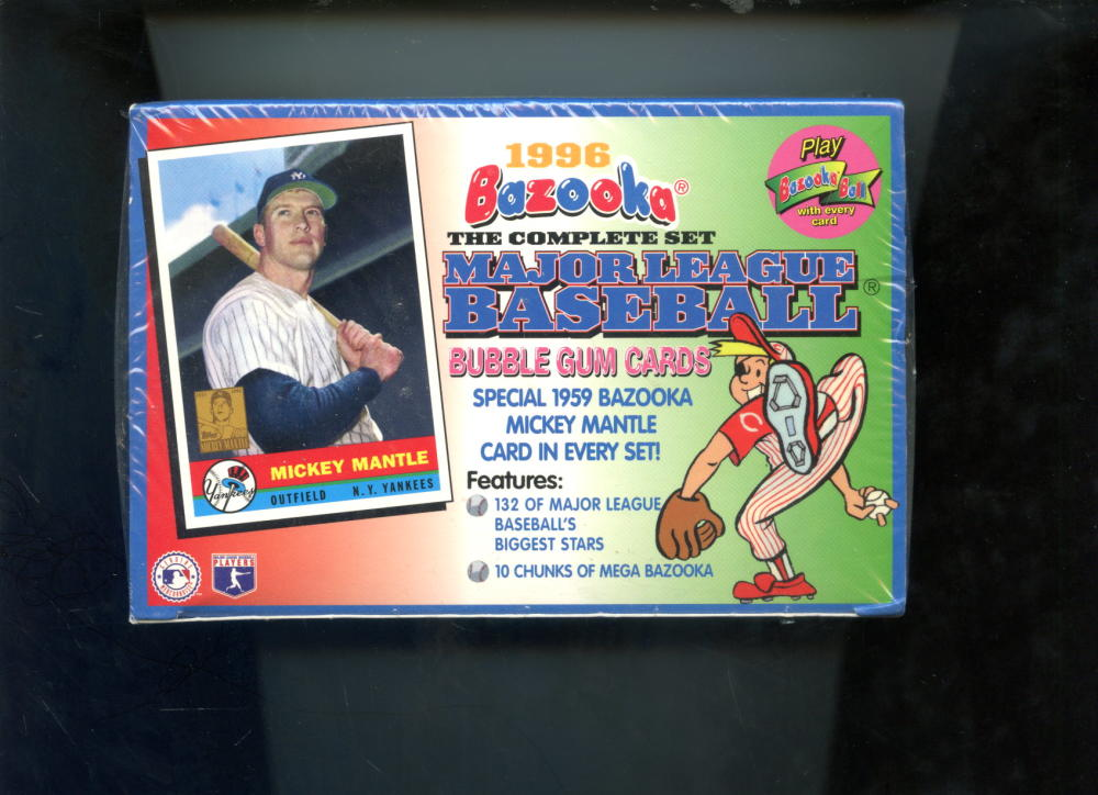 Details About 1996 Topps Bazooka Baseball Card Complete Set Factory Sealed Box Mickey Mantle