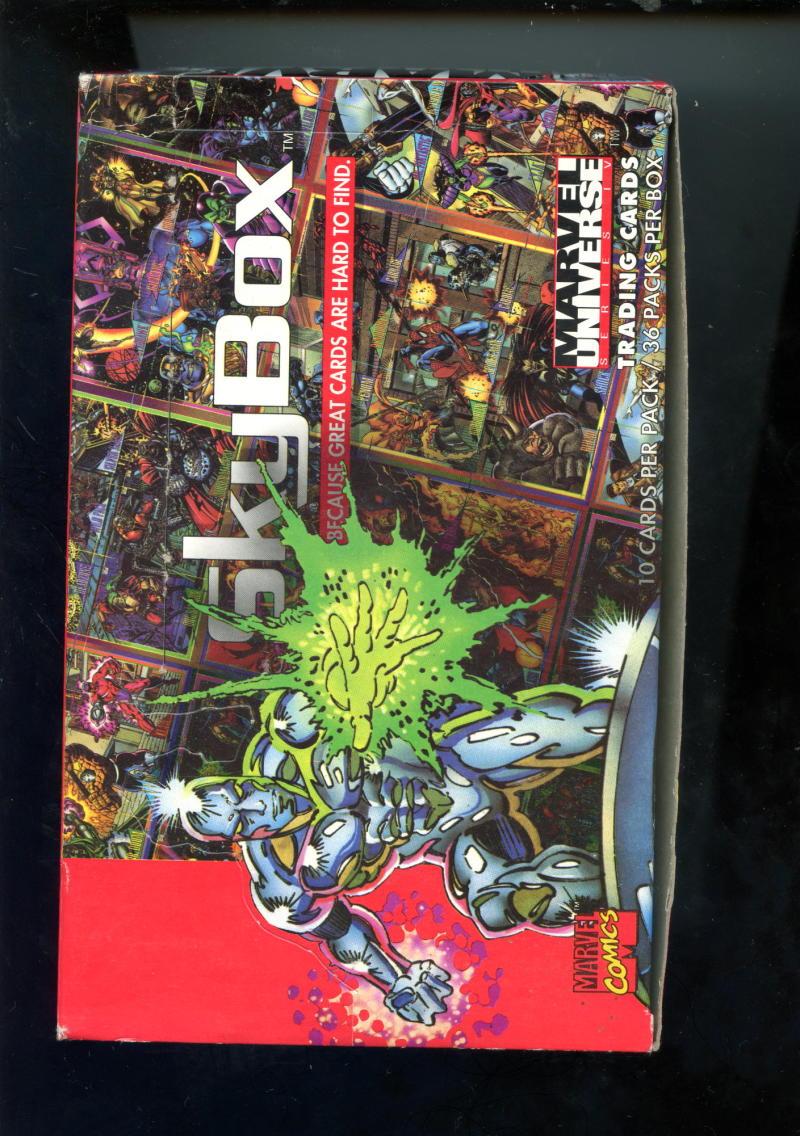 1993 SKYBOX MARVEL UNIVERSE IV  single Wax Pack Losse niet-sportkaarten Verzamelkaarten, ruilkaarten