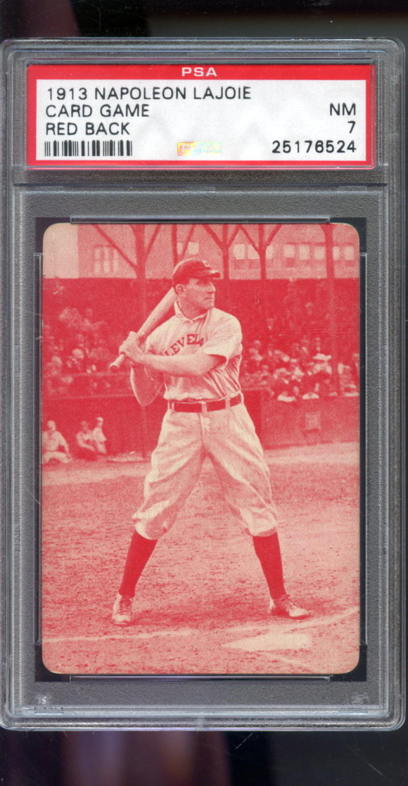 Details About 1913 Napoleon Lajoie Nap Game Red Back Nm Psa 7 Graded Baseball Card