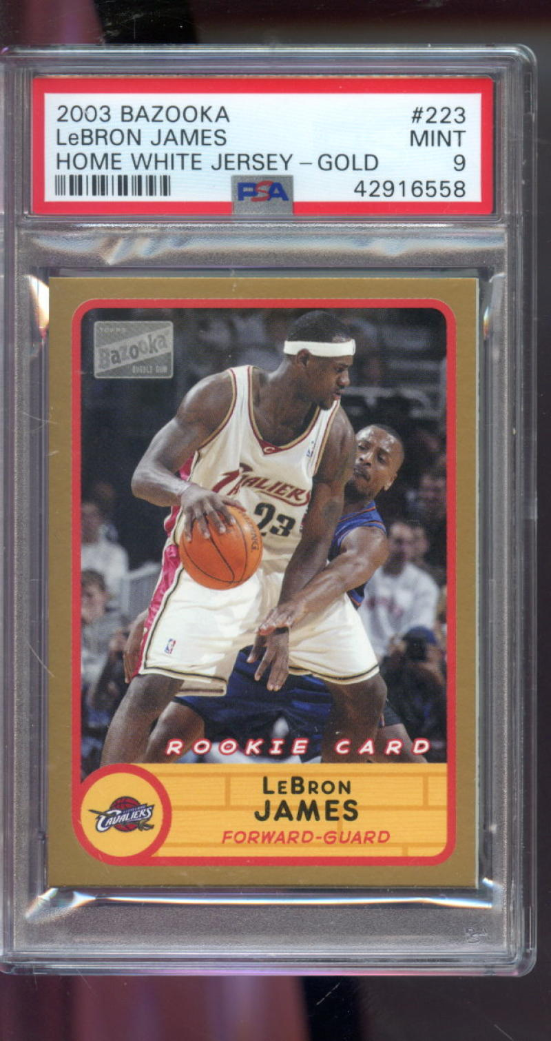 Details About 2003 04 Topps Bazooka 223 Lebron James Rookie Rc Mint Psa 9 Graded Nba Card