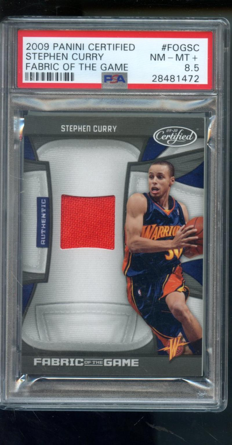 Details About 2009 Certified Fabric Of The Game Stephen Curry Rookie Rc Jersey Psa Graded Card
